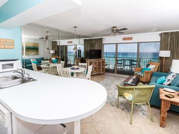 Fort Walton Beach condo rental - Enjoy the amazing views from the beach front living room - Enjoy the amazing views from the beach front living room