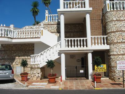 Mijas Costa apartment rental - Entrance to Los Olivos (lift to right of gate)
