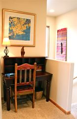 Santa Fe townhome photo - Small office desk on landing in case you have to work while in Santa Fe.