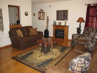 Dillsboro cabin photo - New Living Room Furniture With Gas Fireplace