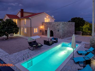 Luxury villa with pool, large terrace, children's playground and beautiful garden
