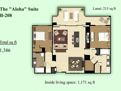 B-208 Floor Plan. This luxurious spacious villa is the best value vacation.