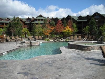Outdoor Pool With Two Hot Tubs