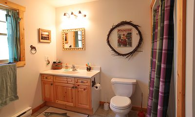 Sault Ste. Marie cabin rental - Bathroom - includes washer and dryer