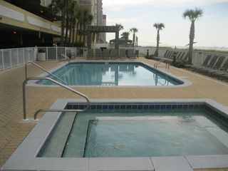 Ocean Villa Resort condo photo - A Close Up View Of 1 Of The Pools And Hot Tub