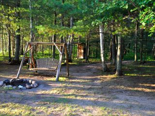 Fifty Lakes cabin photo - Fire Pit, Cedar Swing, Out House option in emergency (with a view).
