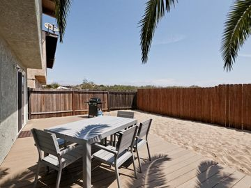 Oxnard house rental - Enjoy a BBQ on the New deck in the privately fenced large backyard.