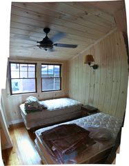 Sebago Lake Basin cabin photo - May 29 2012 UPDATED Bedroom 1 with two single beds