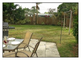 Pompano Beach house photo - Backyard & Swing