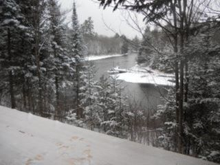 Grayling lodge photo - Winter view from deck!