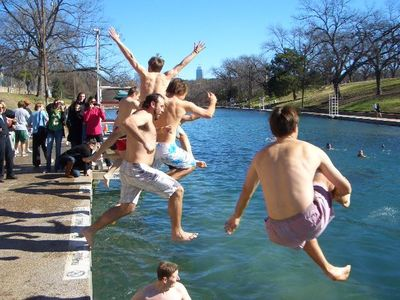 Go jump in Barton Springs