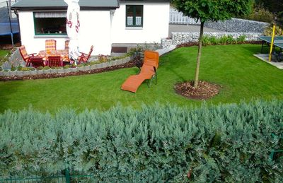 Holiday house with 500 m ² fenced plot, quiet location, direct forest proximity