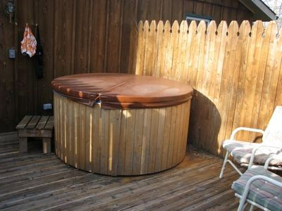 Hot Tub on private deck off Master Bedroom