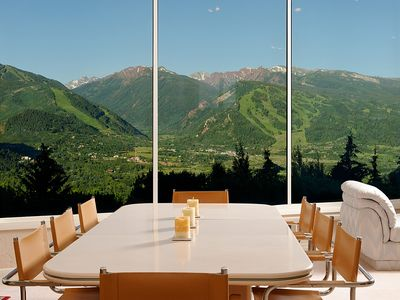 Dine indoors with amazing views in all directions. .