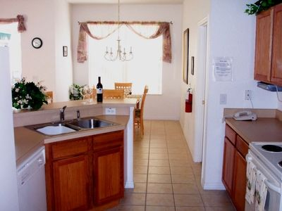 Fully equipped kitchen - range, large fridge/freezer, microwave, dishwasher