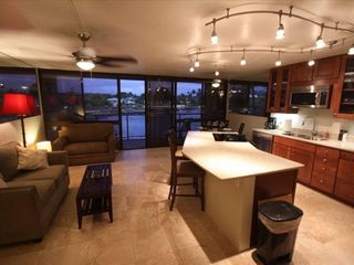 Poipu condo photo - Kitchen Living room with a view of the Ocean