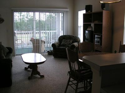 Livingroom with TV, VCR, Stereo and DVD player