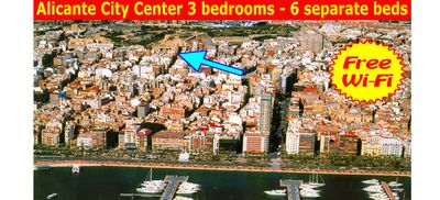 Alicante city center - charming and comfortable penthouse. Free WiFi.