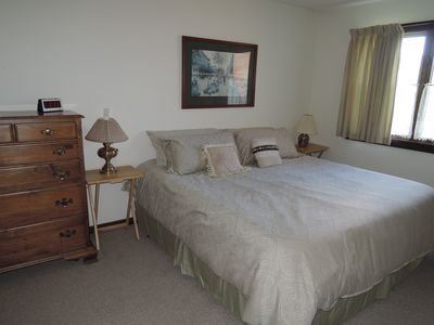 First Floor Master Suite Bedroom with King Bed