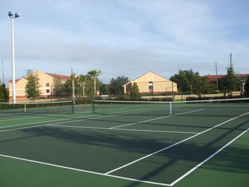 Lighted Tennis Court.