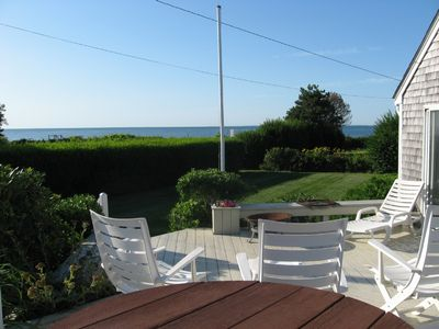Falmouth house rental - view from deck