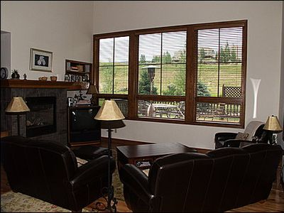 Living Area with Golf Course Views, TV