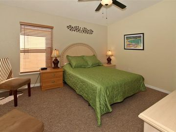 Master Bedroom One with Queen size bed.