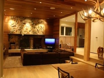 Whistler cabin rental - Living room from dining room