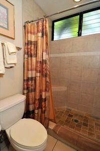 Wailea condo rental - Newly remodeled Master Bathroom shower.