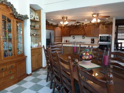 Camdenton house rental - Kitchen & 1st Dining room with lots of Lake views