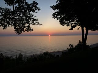 Grand Haven house photo - Sunset view from bluff