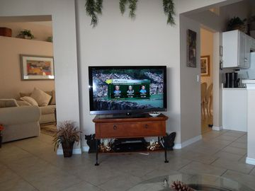 "47"" TV IN FAMILY ROOM"