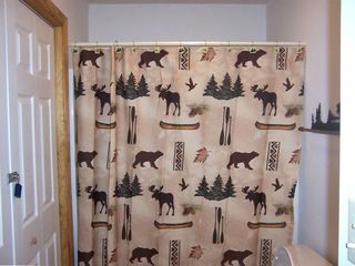 !st Floor Moose Themed Full Bath With Shower and Bath Tub!!