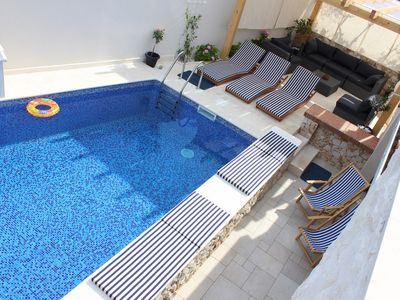 Luxury villa with pool few steps from the sea near Split and Trogir