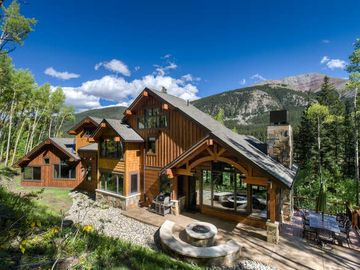 Baldy Mountain Breckenridge house rental - Fire Pit & Deck - Hot Tub off to the Right