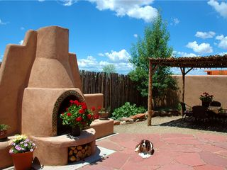 Taos house photo - Private Courtyard with Outdoor Dining/Outdoor Fireplace
