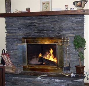 A truly unique & inviting Fireplace- wood and kindling will be waiting for you!