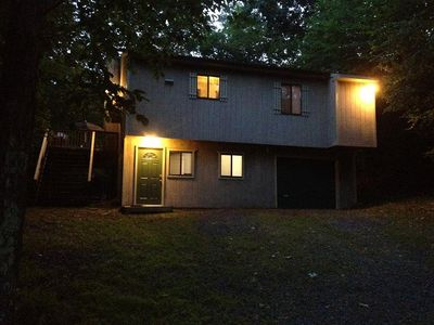 Bushkill house rental - Charming house on a mountain, nestled in trees, abutting the State Forest