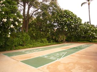 Kihei townhome photo - Shuffle board area by the pool.