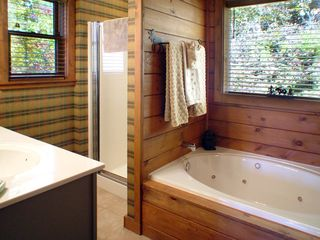 Maggie Valley house photo - Master bath with Jacuzzi tub