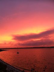 Hampton Bays house photo - Peach and lavender sunset