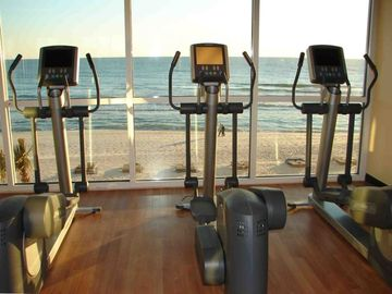 Beautiful views while you work up a sweat in the 1500 sq.ft. fitness center