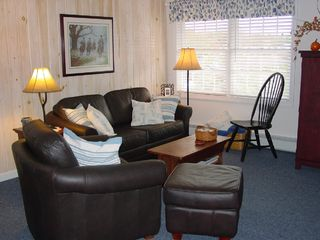 Southwest Harbor condo photo - Ebb-Tide's Great Room with Harbor Views.