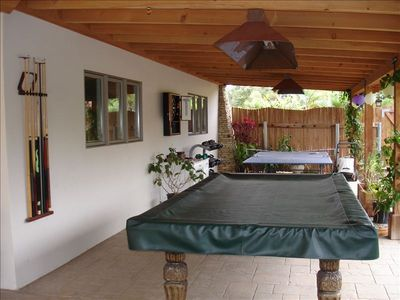 Pool table and Ping Pong table. Dart board