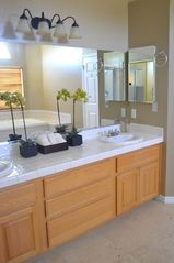 Las Vegas house photo - Full Bath #2 / Master Bath - dual sinks, shower and walk-in closet.