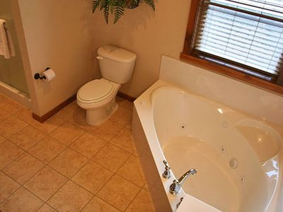 Jacuzzi Tub and Stand Alone Shower (Main Level Bathrooms)