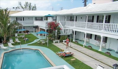 Deerfield Beach hotel rental - A view from our swimming pool and outdoor area.