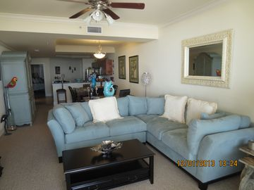 Dauphin Island condo rental - Living room with 60 inch flatscreen TV (not pictured).