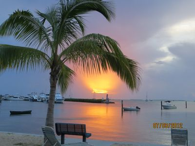 Our beach front at Sunset... Sit back and enjoy natures show!