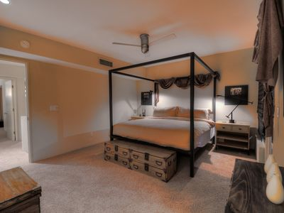With a private balcony and a king size bed, this master suite has it all.